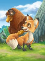 The Fox and The Eagle illus.2 by kuyakoyboy