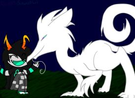 Aseris and her Lusus by ThreeInTheMornin