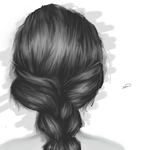 Hair sketch by Averageon