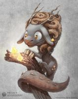 A cute fantasy dragon sheep by Deevad