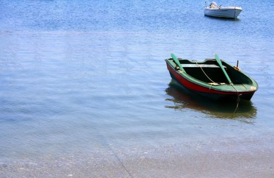 Row Boat in Greece by scifibunny