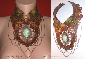Autumn Forest Elven Necklace by adalheidis