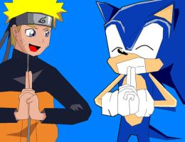 Sonic and Naruto by ss2sonic