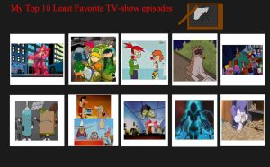 My Top 10 Worst TV Show Episodes by SithVampireMaster27