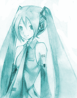 Hatsune Miku by strawberryjamm