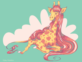 Pretty Giraffe 1 by MaryAQuiteContrary