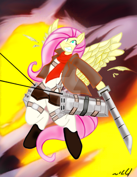 Attack on Fluttershy by Equestria-Art-Studio