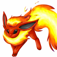 Unfinished Flareon D: by BloodRedMango