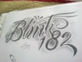 Blink 182 lettering by smurfpunk