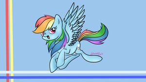 Rainbow Dash Doodle Wallpaper by Violyre