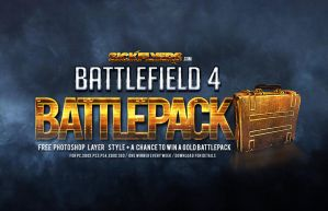 Free Battlefield 4 Battlepack Photoshop Style by Industrykidz