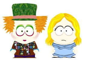 Alice in Wonderland South Park by whysoseriouss
