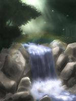 Waterfall by Tratei