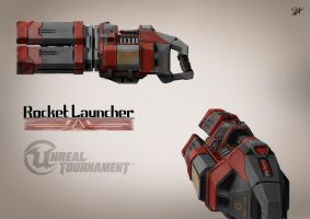 Unreal Tournament - Rocket Launcher Concept Art by Sly-Mk3