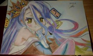 Shiro ( No Game No Life ) Finish with Maci13 by lMokeil