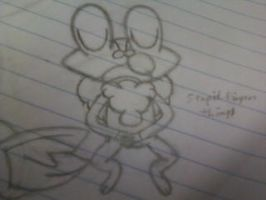 School Doodles 3 of 4 - Sleeping Froakie by Cody2897