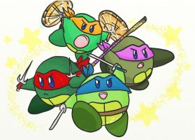 Kirby TMNT by BrotherToastyCakes