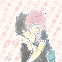Lightning and Noctis: Hug by andoriia-chan