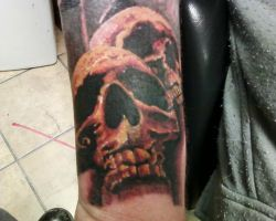 red skulls by TwoToneTattoo