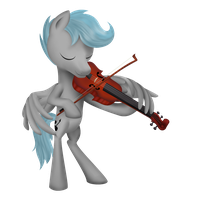 Poni with instrument-Viola by Ariah101