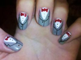 Pee Wee Herman Nails by Chelseapoops