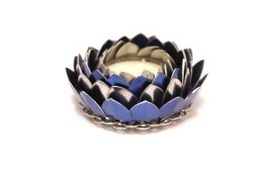 Blue and Silver Lotus Candleholder by SerenFey