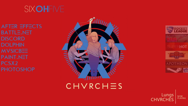 Rainmeter - CHVRCHES Theme by Anteater97