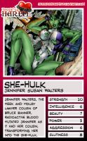 Trading Card - She-Hulk by jessiesheram
