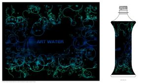 my entry for ART WATER label by azest911