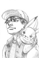 Ash and Pikachu 20min sketch by The-Internationalist