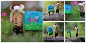 Biagio the artist mouse by LaVolpeCimina