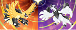 Necrozma Infection : Ho-oh and Lugia by Tomycase