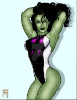 She-Hulk playful by THE-Darcsyde