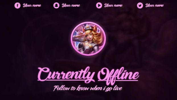 [FREE] Popstar Ahri - Offline Screen by lol0verlay