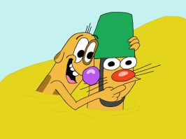 CatDog at the beach by Hedgehog-Russell