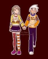 Maka and Soul wake up by darksidermonents
