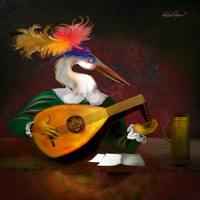 The Lute Player by altergromit