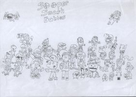 Sooper Smash Babies Cast V3 by Ol-Green-Nipples