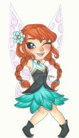 Chibi Disney Fairy Collection: Anna by chelleface90
