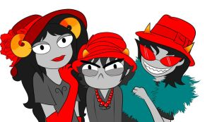 The Trolls' Red Hat Society by demonChasing