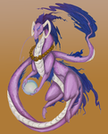 Purple and Blue Dragon by smeemee