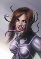 venom chick by alecyl