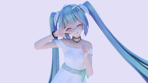 Smile - Happy - Miku Cycles Render by scarynightmare-kn