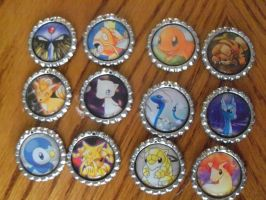 Bottle Cap Keychains Batch 2 by Shadow-Wing456