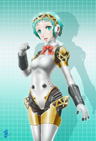 Fuuka in Aigis Suit by sinrin8210