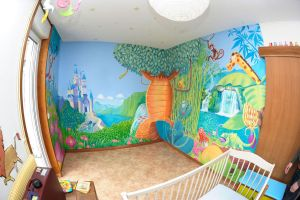 fresque chambre enfant by Djoz