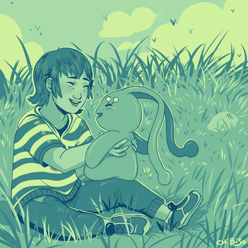 Joao and Manaphy| Colour Palette- Cool Sunsets by ChibiSo