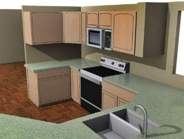 3d kitchen 3 by darrelltate