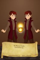 Fred and George Weasley by KendraKickz0220