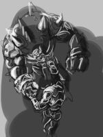 Fist Fight with a gronn Rough sketch by PaulSj